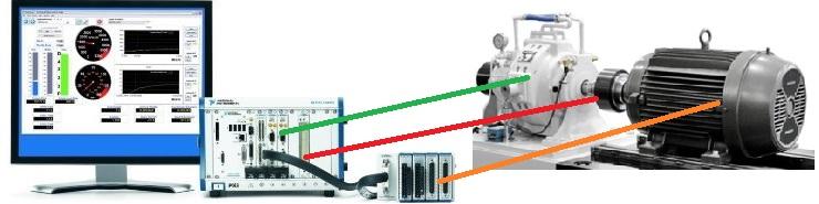Стенд для тестирования электродвигателей